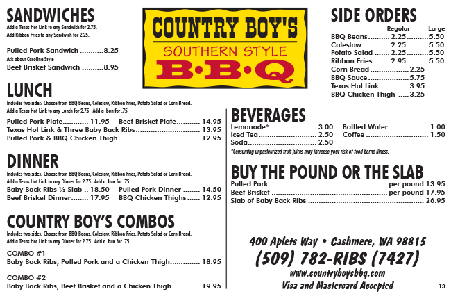 Country Boys BBQ - Tom and Anitra Dew - Southern Style Barbeque ... 5a168ab7245